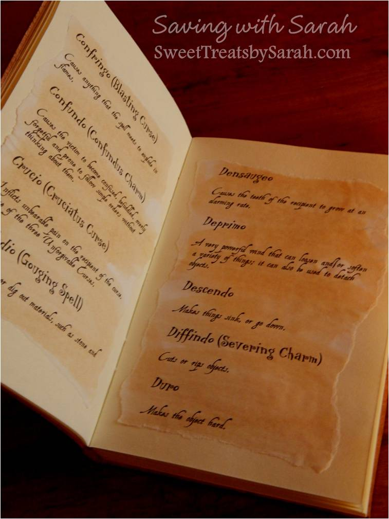 Saving with Sarah: Harry Potter DIY Project Part 2 : Spell Book ...