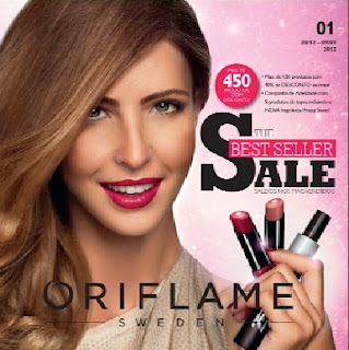 capa do catalogo nº 1 de 2013 da oriflame