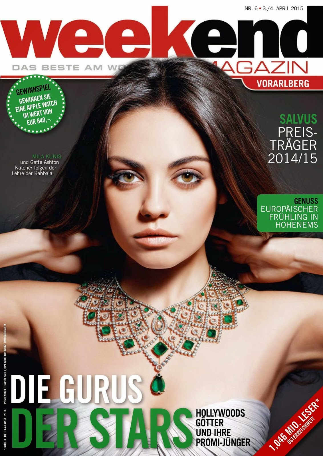 Actress @ Mila Kunis - Weekend Magazin, April 2015