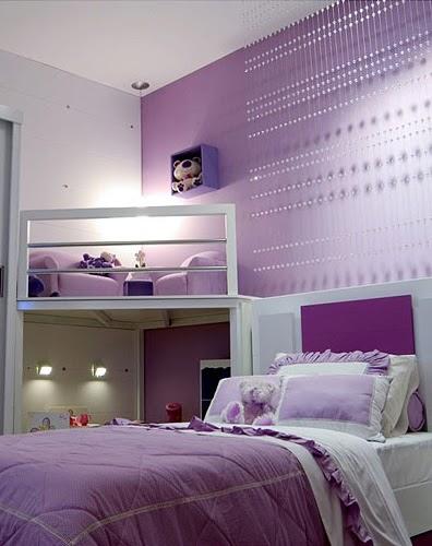 Dormitorio lila para ni - Decoracion de habitaciones de ninas ...