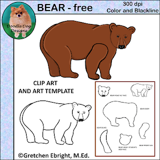 https://www.teacherspayteachers.com/Product/ART-PARTS-WOODLAND-BEAR-TEMPLATE-AND-CLIP-ART-1670125