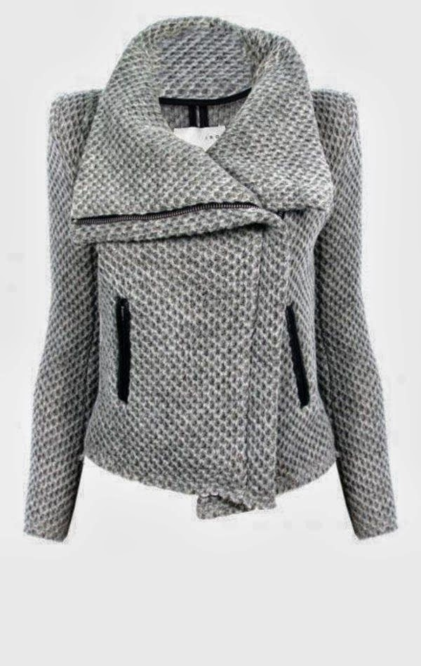 Adorable grey woolen winter jacket