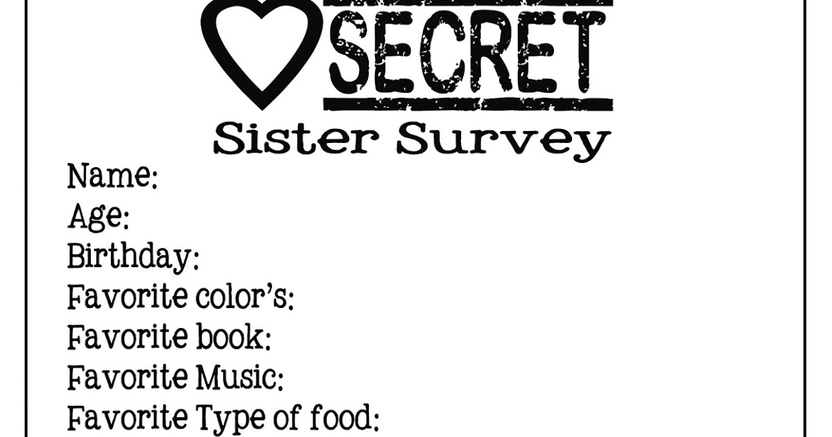 Autumn-Bennett: Secret Sister Survey