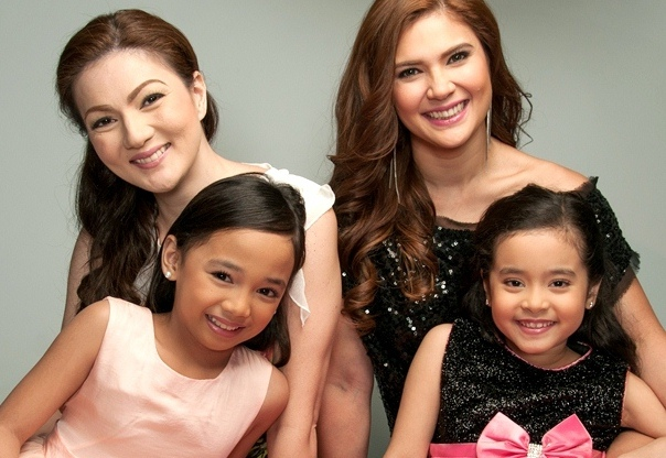Larah Claire Sabroso and Julia Klarisse Base with Carmina Villaroel and Vina Morales