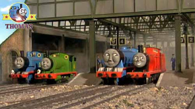 Steam locomotive Edward the blue engine splendid James Gordon Percy and Thomas the train and friends