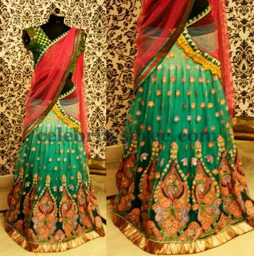 Pastel Green Heavy Half Saree