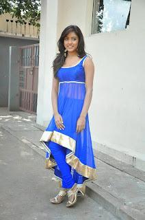 Actress Vithika Sheru Latest Pictures in Blue Salwar Kameez at Paddanandi Premalo Mari Movie First Look Launch  15.jpg