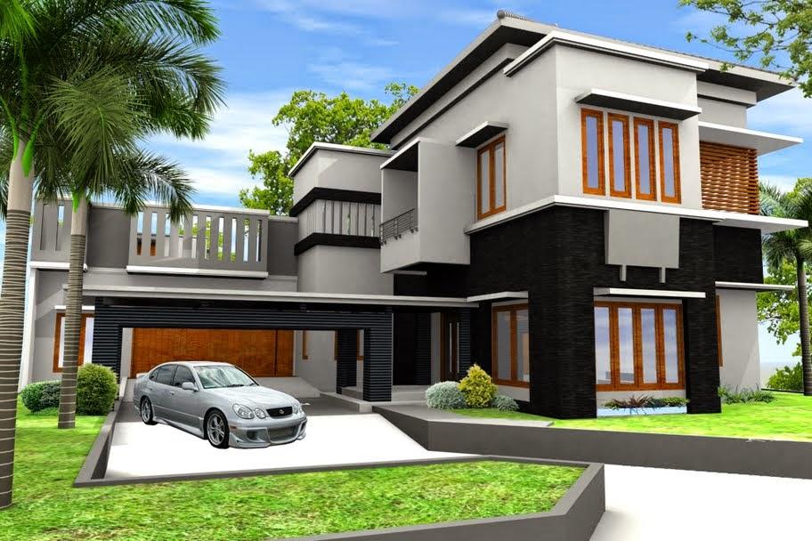 Gambar Desain Rumah Mewah Minimalis Terbaru  Desain Denah Rumah