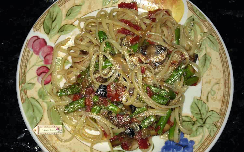 Pasta With Eggplant, Portobella, And Tomatoes Recipe — Dishmaps