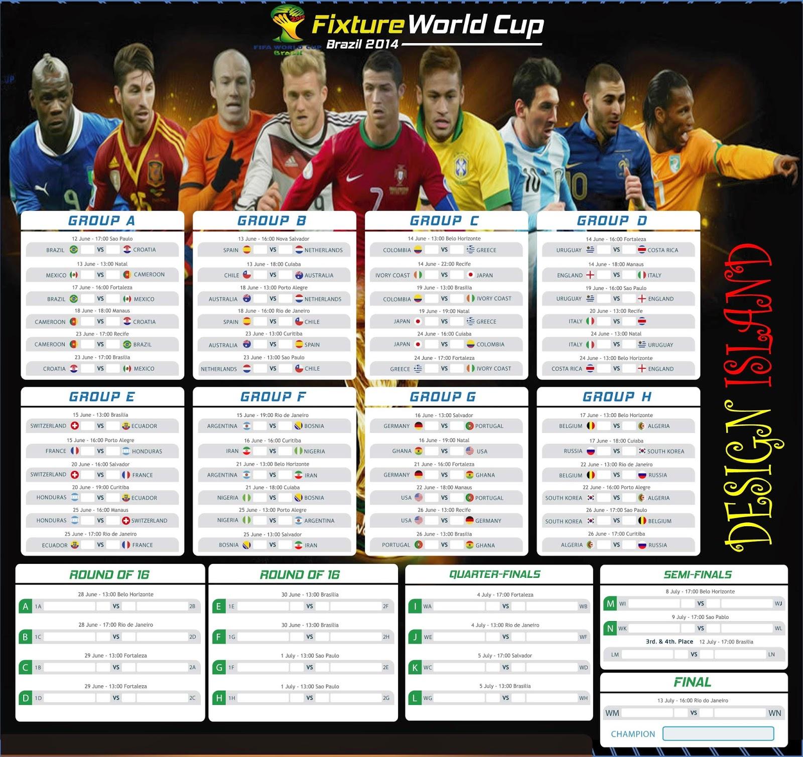 Fifa world cup 2014 brazil football fixtures design designisland