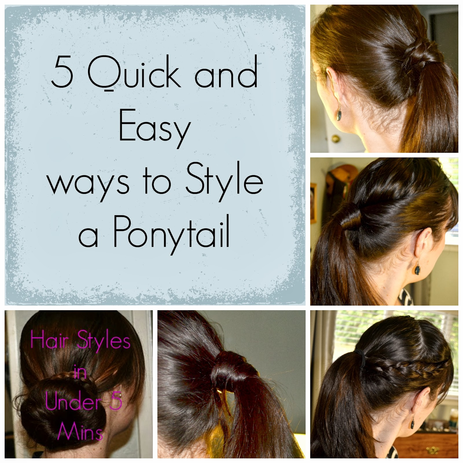 Freckled Style and Beauty: Quick and Easy Ponytail Ideas
