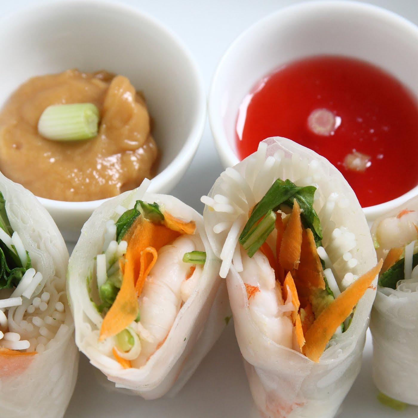 ... roll thai peanut shrimp summer rolls shrimp summer rolls recipe yummly
