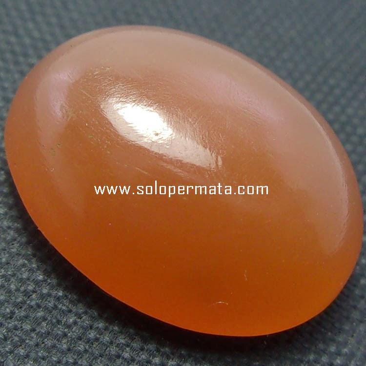 Batu Permata Moonstone Selenite Orange