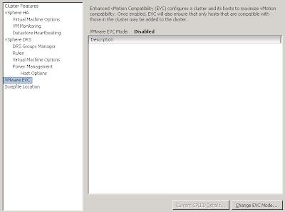 Enabling VMware EVC on a vSphere cluster