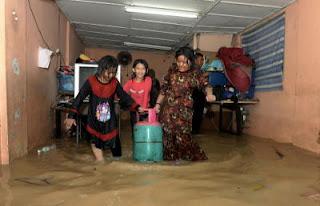 banjir kilat di George Town Penang 6 April 2013