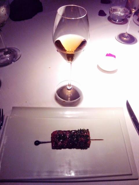 Foie gras micuit caramelizado Restaurante Cinc Sentits Barcelona
