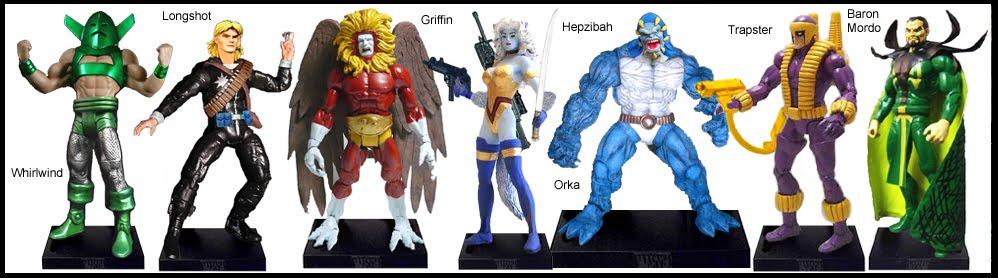 <b>Wave 7</b>: Whirlwind, Longshot, Griffin, Hepzibah, Orka, Trapster and Baron Mordo