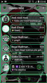 Download BBM Transparan Green Line V2.10.0.31 APK Terbaru