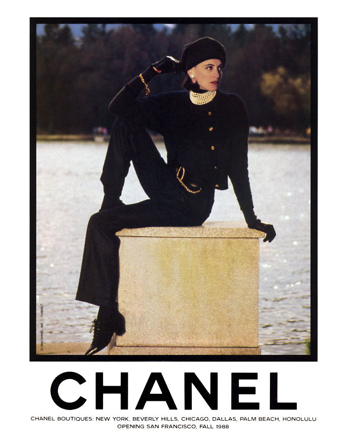 slash and burn fashion flashback vintage chanel ads