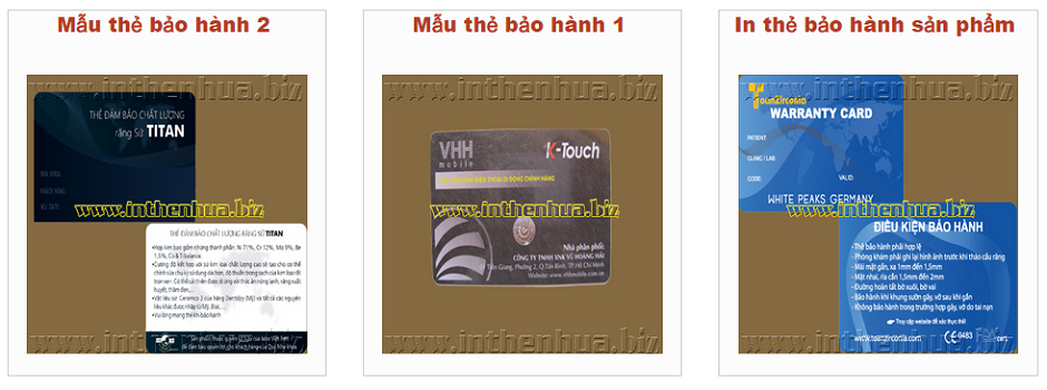 mau the bao hanh