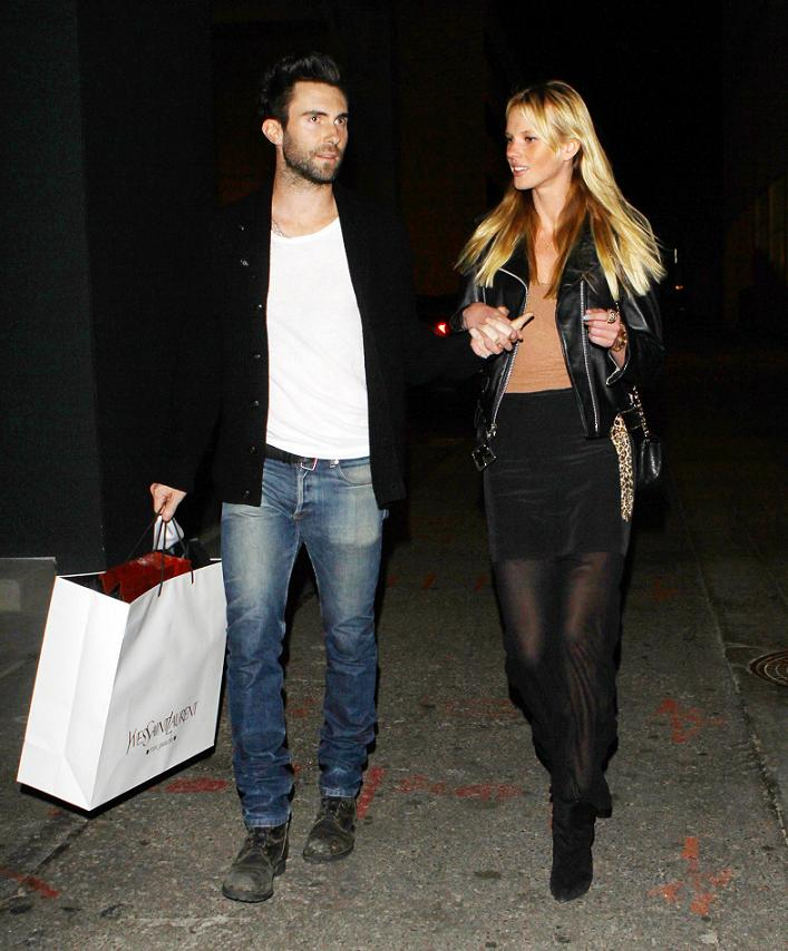 Adam Levine enjoys a cosy evening with girlfriend Anne Vyalitsyna