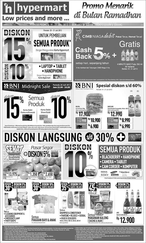Katalog Hypermart Weekend Promo Terbaru Periode 19-21 Juli 2013