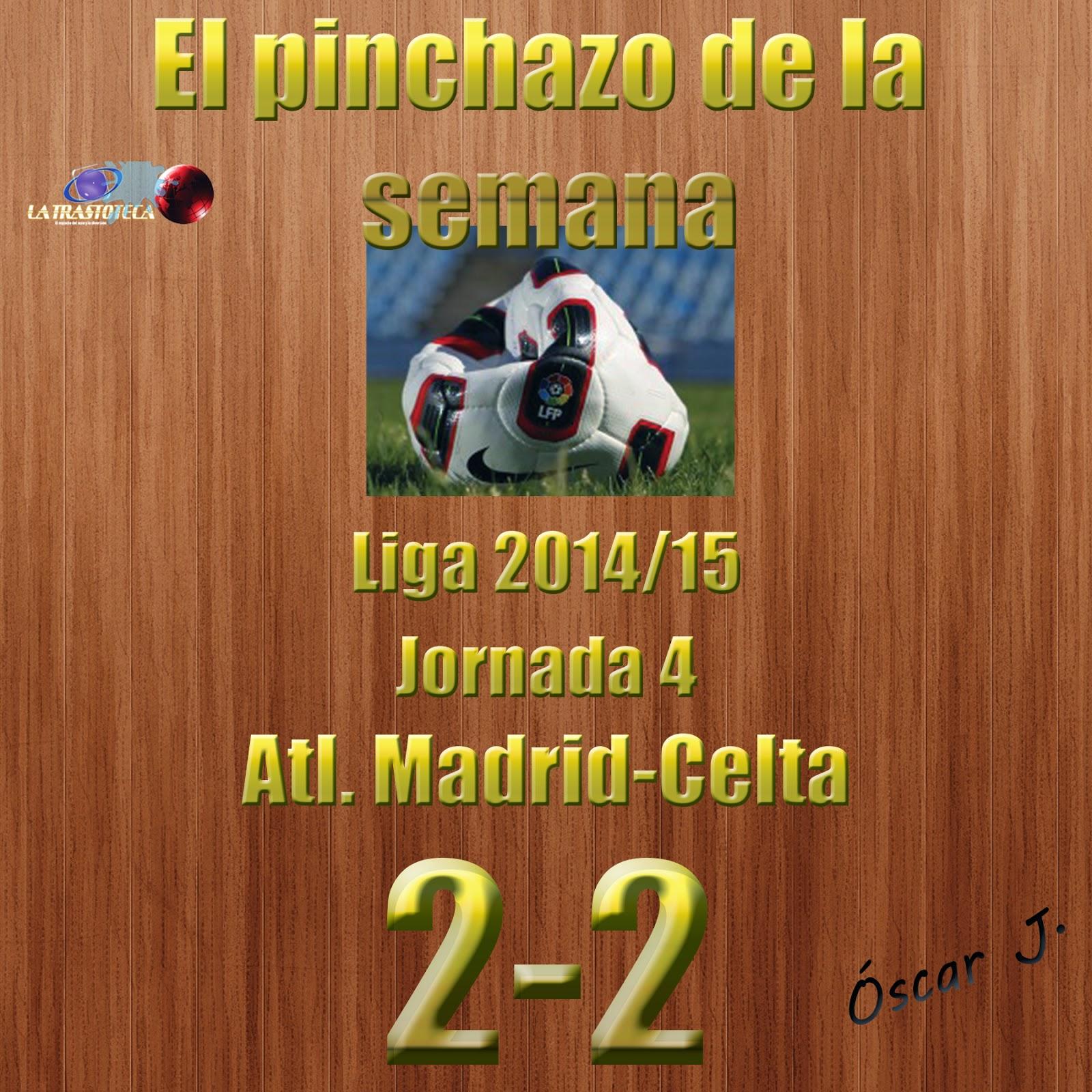 Atlético de Madrid 2-2 Celta. Jornada 4. El pinchazo de la semana.