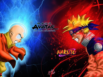Montagem by  Luiz EduardoNaruto Vs Avatar Vs Dragon Ball Z