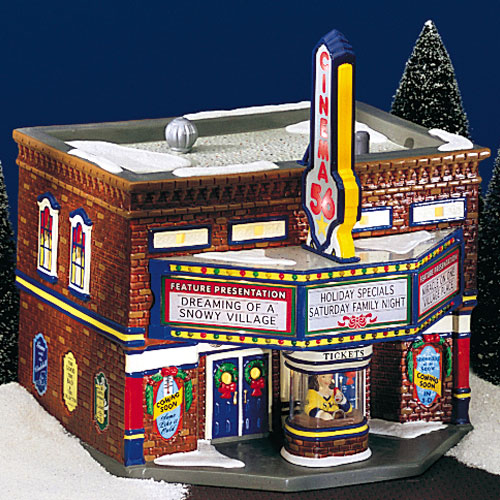christmas village fun blog movie trivia from thomas edison on with images from department 56. Black Bedroom Furniture Sets. Home Design Ideas