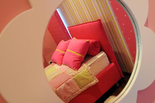 Dormitorio Rosa con Verde Para una Chica Señorita by artesydisenos.blogspot.com