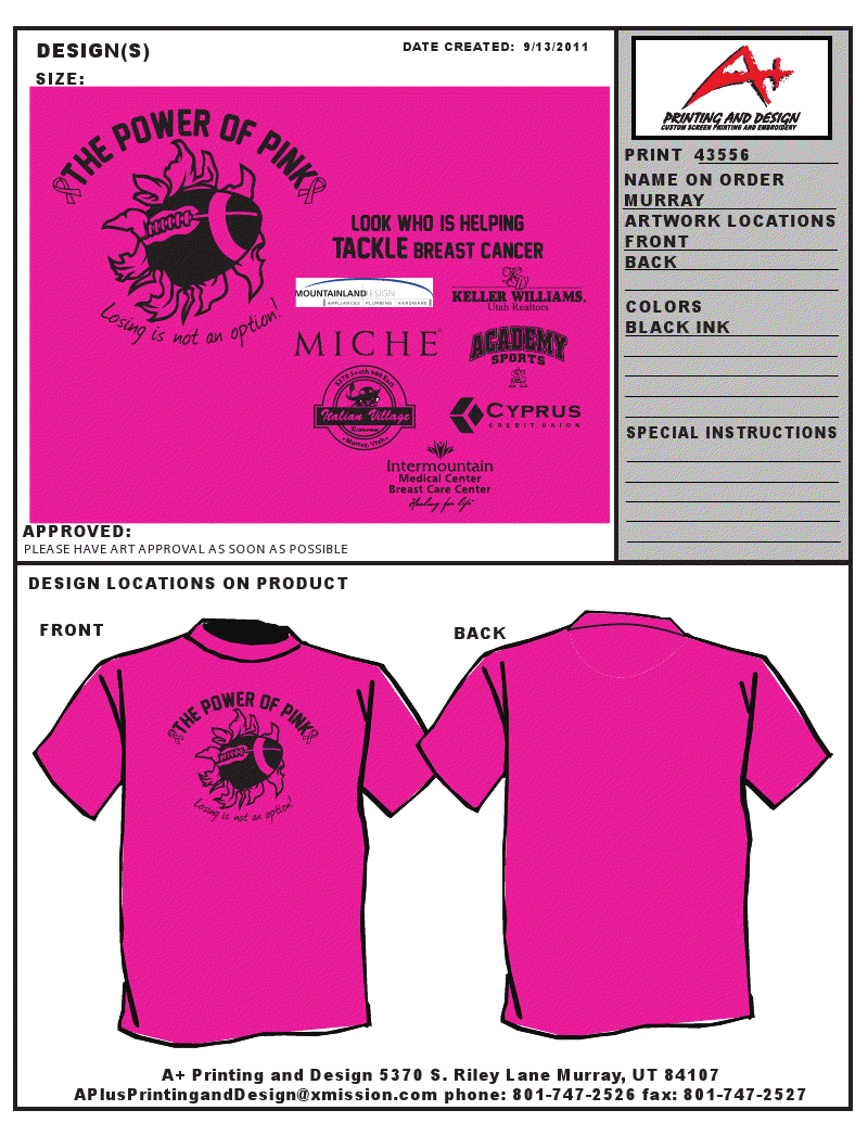 WESTLAKE HIGH SCHOOL FOOTBALL: PINK T-SHIRTS FOR SALE