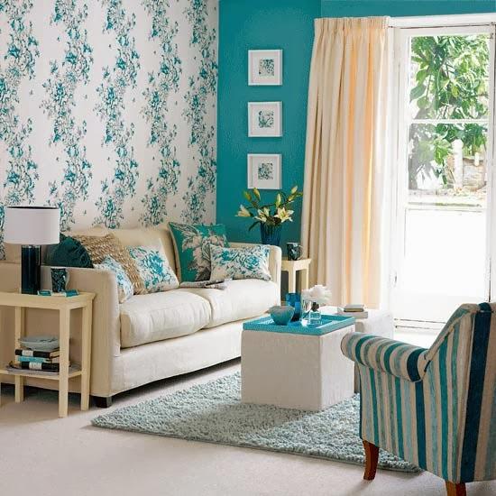 Sala De Estar Com Azul ~   Decorações para Sala de Estar inspiradas no Azul Turquesa
