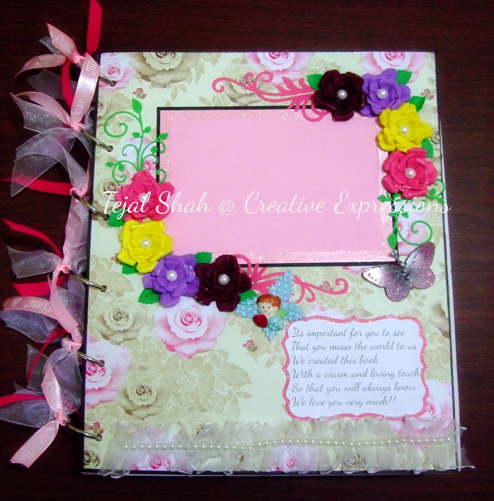 Creative Expressions Baby Girl Scrapbook