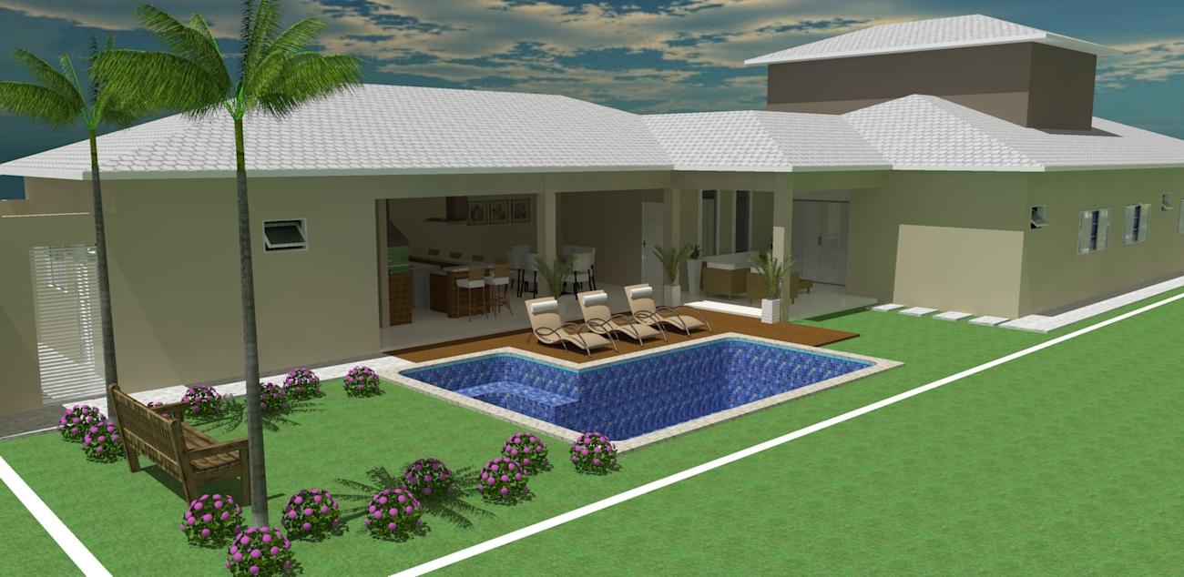 Queiroz Design Projeto De Piscina E Casa