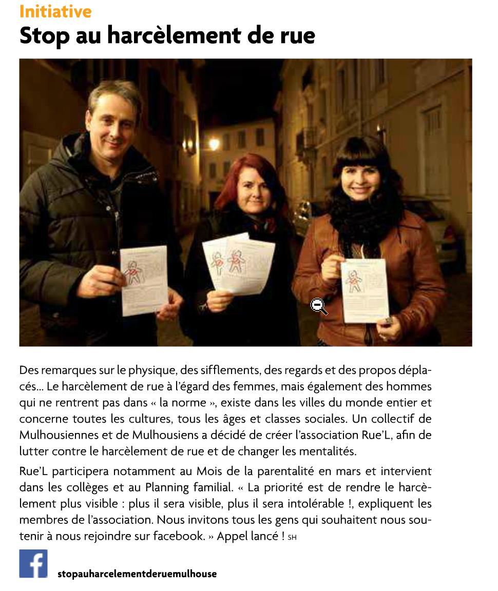 Stop harcèlement de rue Mulhouse