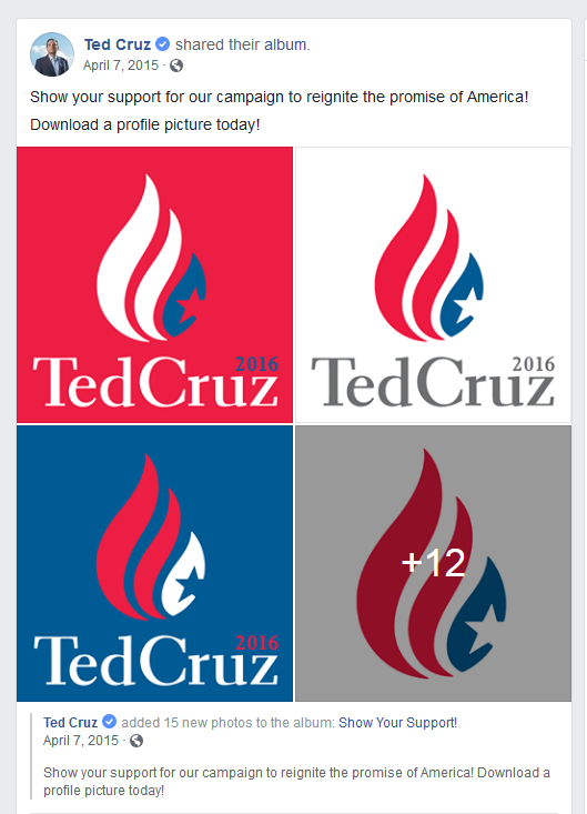 "Catch the Fire symbology is not "" the promise of America"" as Ted Cruz facebook says --"