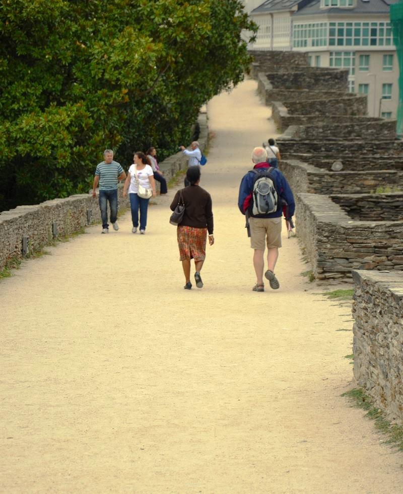 City Wall walk, Lugo.