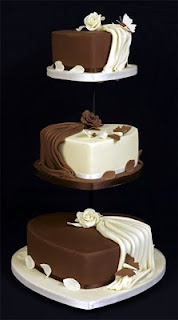 Chocolate Heart Wedding Cakes