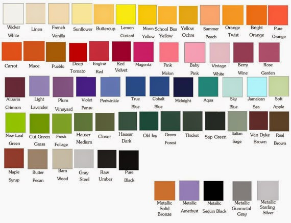 Textile clothing info color dye pigment Shades of orange colour chart