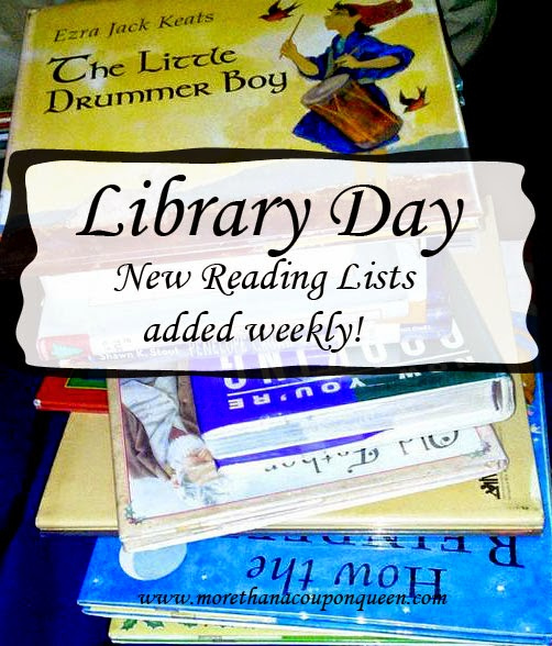 Library Day Link Up Week 4 - Book Suggestions for adults, 5 year olds and 8 year old.