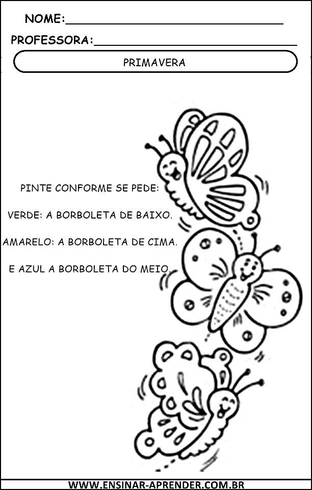 Fabuloso ATIVIDADES SOBRE A PRIMAVERA – PARA IMPRIMIR | Cantinho do  ID05