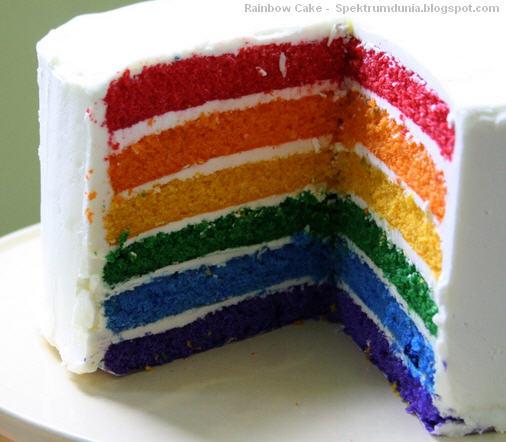 Rainbow Cake / Bolu Kukus Pelangi dengan Buttercream - spektrumdunia.blogspot.com