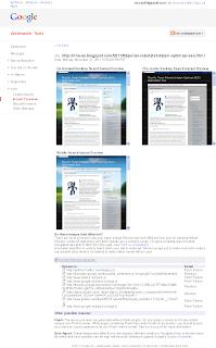 Cara Cek hasil crawl melalui Google Webmaster Tool