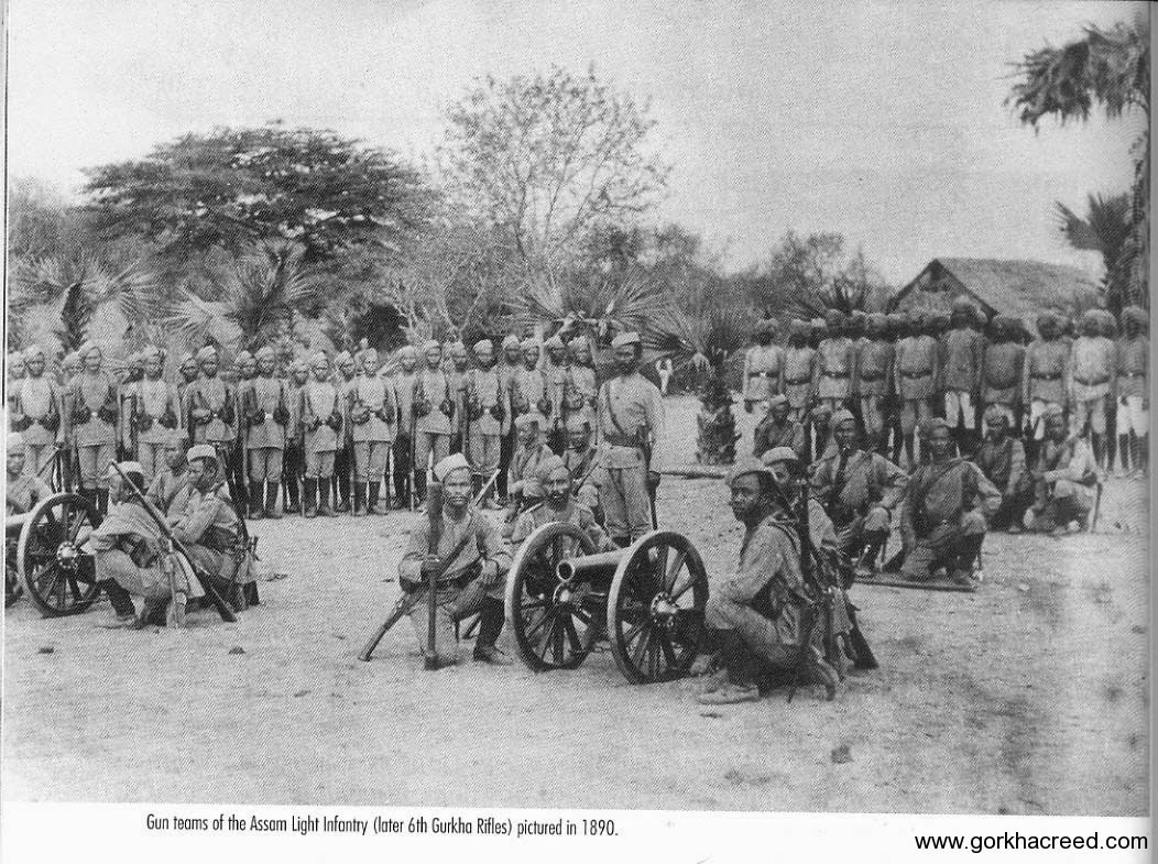 Assam-light-Infantry-later-6th-Gorkha-Rifles-1890