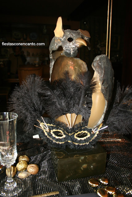 Fiestas con encanto decoraci n mesa carnaval de venecia - Mascaras venecianas decoracion ...