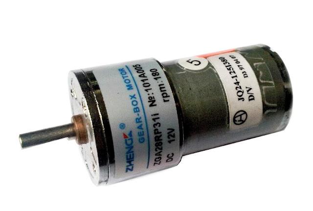 Dc motor new 12volt TORSI 0,57 KG - RPM 180  dc dengan gearbox 220.000
