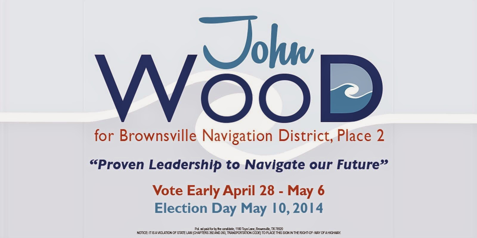 WOOD FOR PORT OF BROWNSVILLE COMMISSIONER