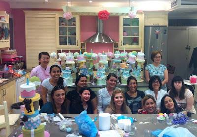 curso de tarta de los ositos traviesos: el equipo al completo (menos Lore's Bakery :-((