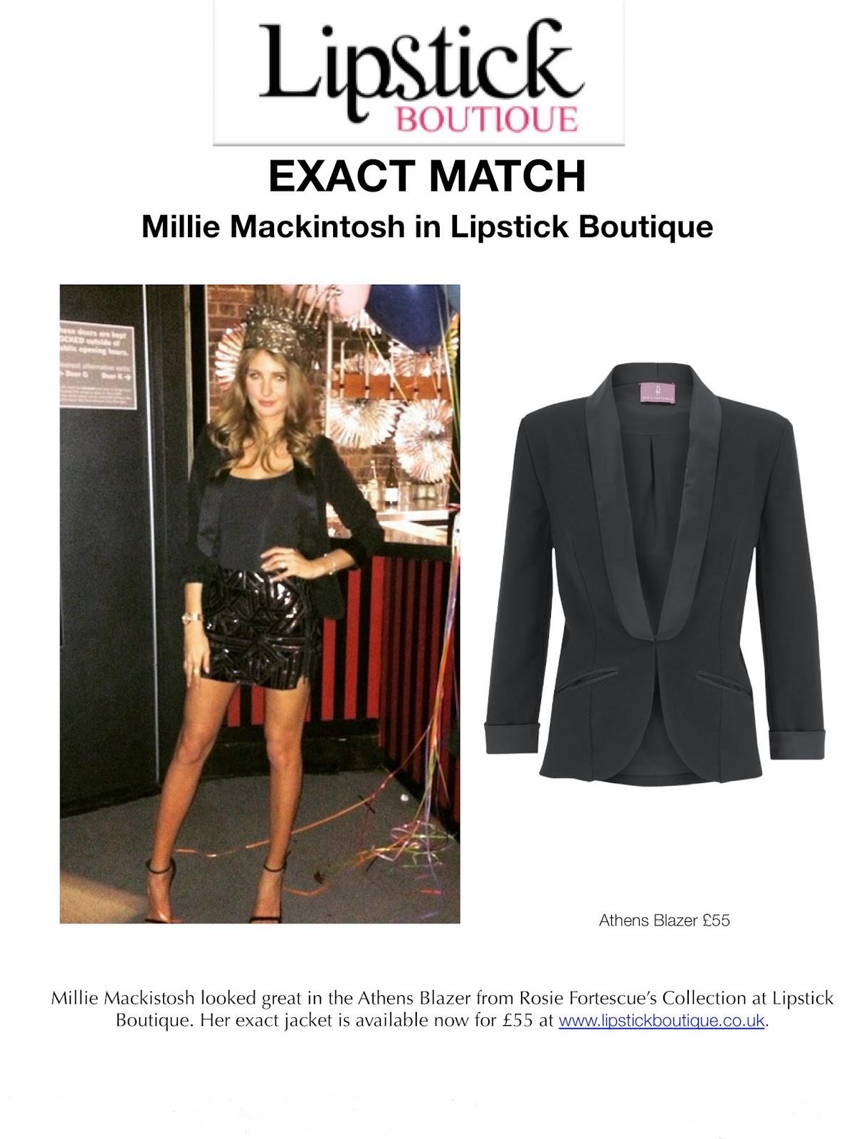 bd334c2d9c4 EXACT MATCH - Millie Mackintosh wearing Rosie Fortescue at Lipstick  Boutique