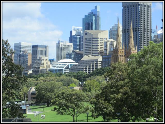 Sydney CBD vue parc the Domain